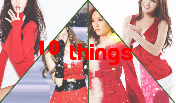 10THINGS KPOP IDOL SEXY SANTA GIRL CHRISTMAS