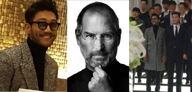 choi siwon look alike Steve Jobs