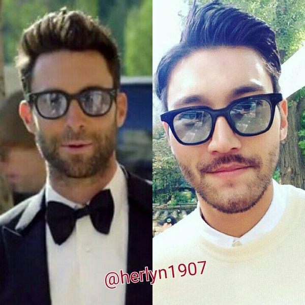 choi siwon look alike adam levine