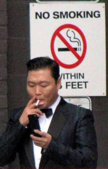 psy smoking