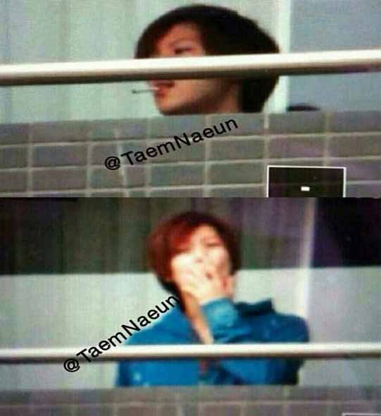 shinee taemin smoking