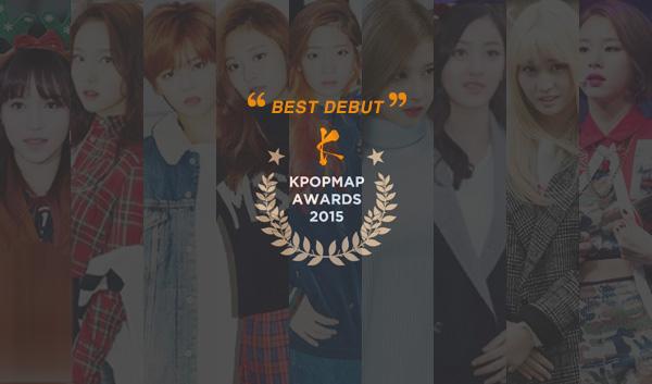 kpopmap awards 2015 debut twice profile member