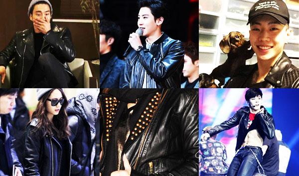 k idol star leather jacket