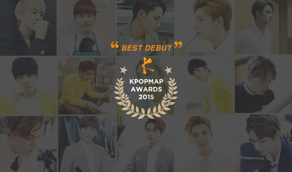 kpopmap awards 2015 debut seventeen