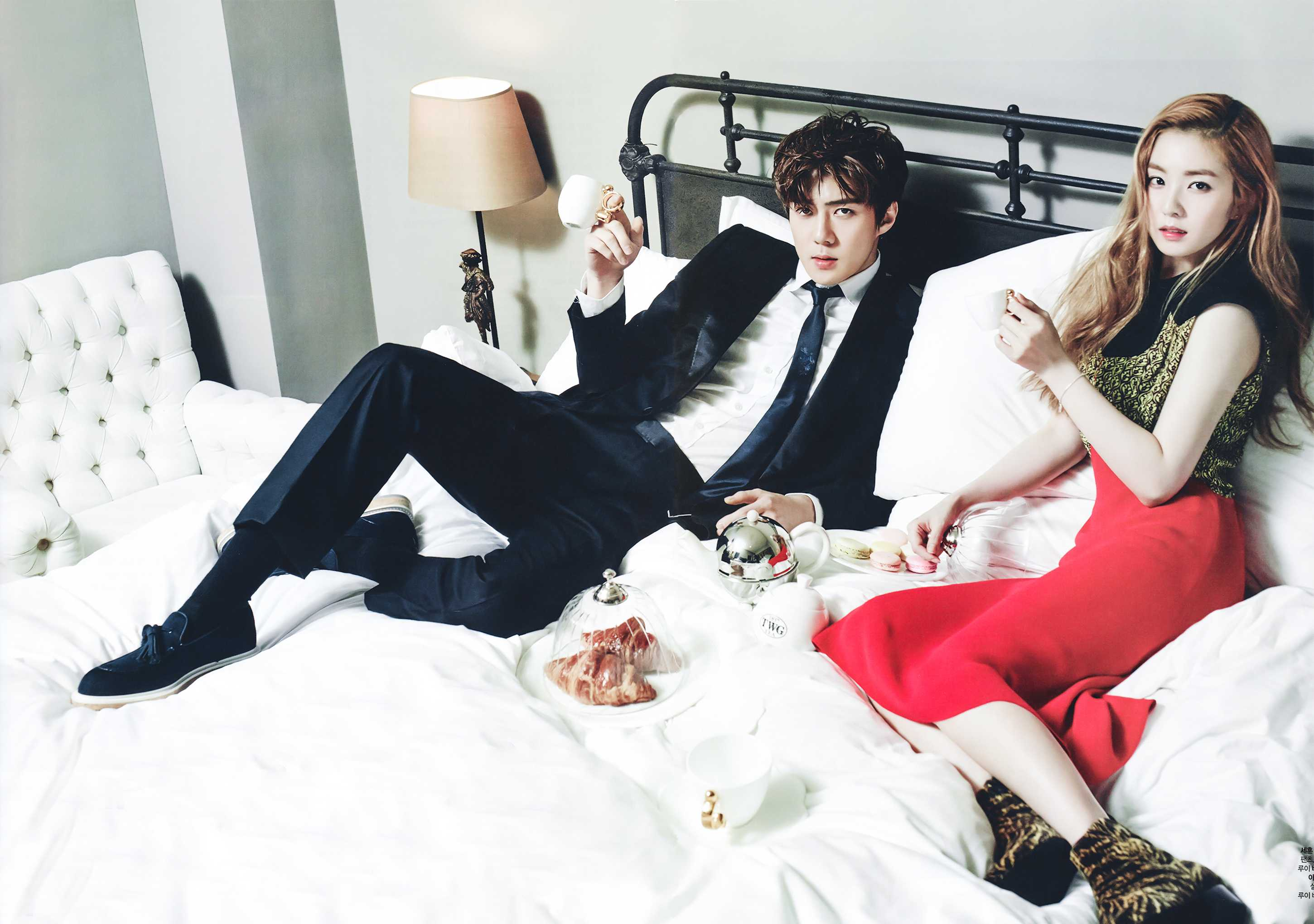 sehun irene idol couple photo