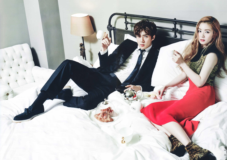 sehun irene idol couple photo