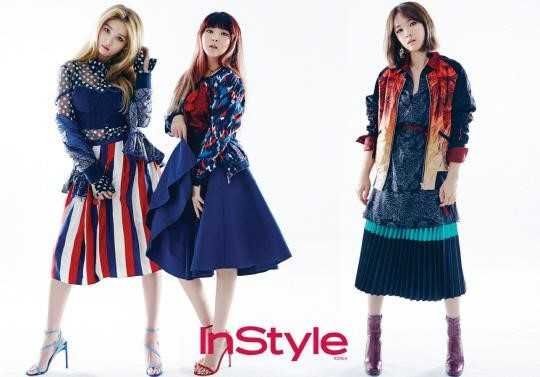 4MINUTE In Pictorials For March 2016 Issue Of InStyle