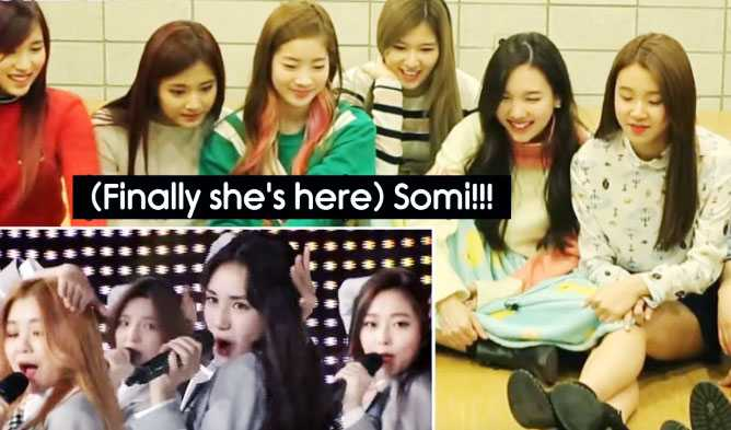 TWICE Reactions Watching Produce 101 Trainees Be BackTalking SoMi