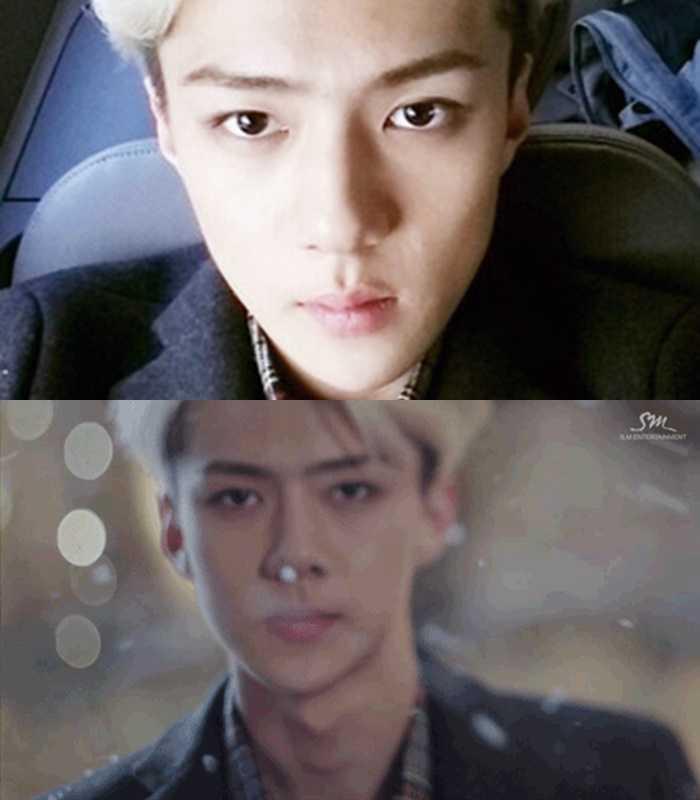 sehun exo ugly selfie idol stars