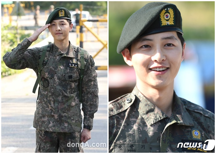 song joongki military uniform