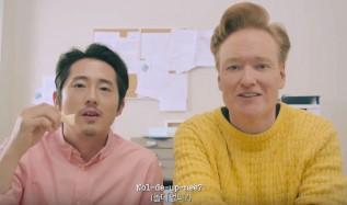 Conan O'Brien Steven Yeun korea fans, conan kpop, conan korea, conan bts