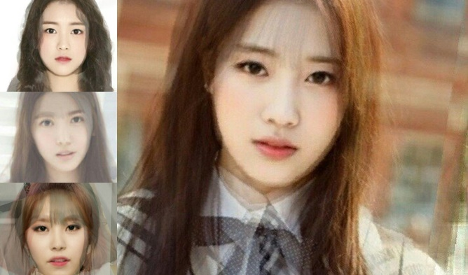 GIRL GROUP AVERAGE FACES