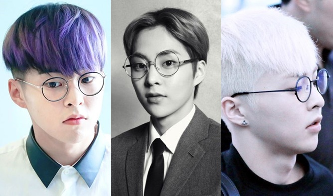 kpop, kpop male idols, kpop idols, kpop glasses, kpop idols glasses, kpop harry potter, kpop harry potter glasses, kpop round glasses, exo glasses, exo xiumin, xiumin glasses