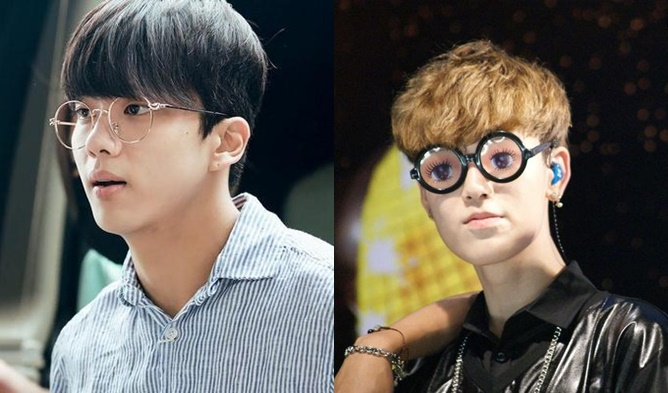 kpop, kpop male idols, kpop idols, kpop glasses, kpop idols glasses, kpop harry potter, kpop harry potter glasses, kpop round glasses, bap glasses, bap youngjae, youngjae glasses