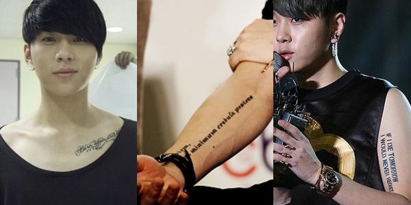 kpop idols, kpop tattoo, kpop idols tattoo, kpop idols tattoo meanings, beast junhyung, junhyung tattoos, junhyung tattoo meaning