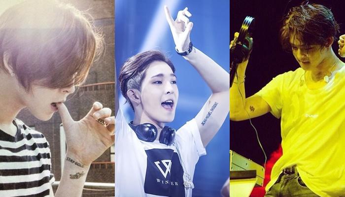 kpop idols, kpop tattoo, kpop idols tattoo, kpop idols tattoo meanings, winner taehyun, taehyun tattoo, taehyun tattoo meaning