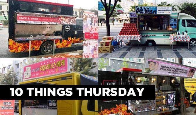 kpop food truck, kpop idol food truck, korean food truck, kpop idol fan service, kpop twice food truck, IOI food truck, EXO food truck, GFriend food truck, kpop infinite food truck, Got7 food truck, B1A4 food truck, Lovelyz food truck, Mamamoo food truck, APink food truck