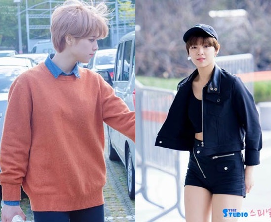 boyish fashion, kpop boyish fashion, kpop idol boyish fashion, kpop girl group boyish, jungyeon fashion