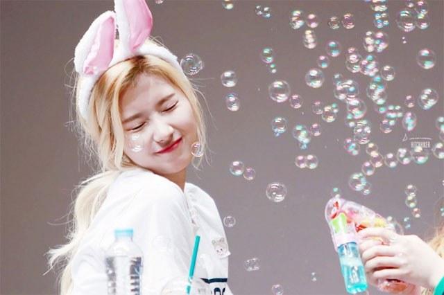 kpop, kpop idols, kpop fan signing, kpop idols bubbles, kpop bubbles, kpop meet and greet, cute kpop idols, twice momo bubbles