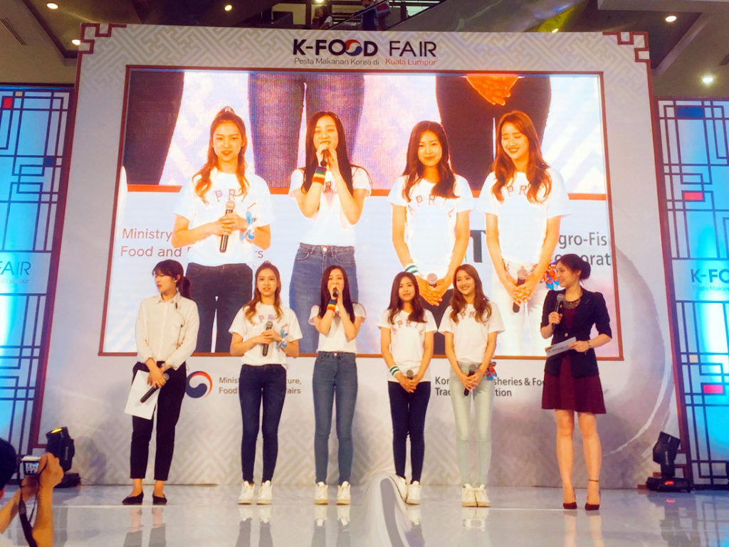 APRIL Visits Malaysia to Represent Korean Food at K-FOOD Fair