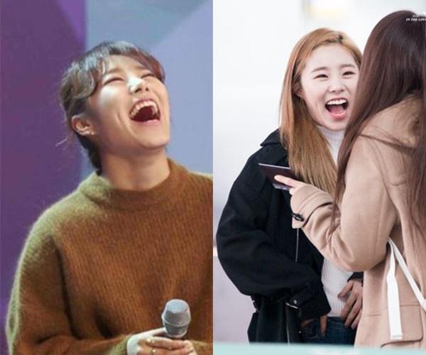 kpop idols laughing, kpop idols laugh, kpop laughing, happy laughing, laughing, wheein laugh