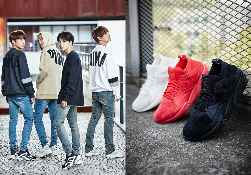 Photo )) BTS for F/W Collection for PUMA • Kpopmap - Global Hallyu ...