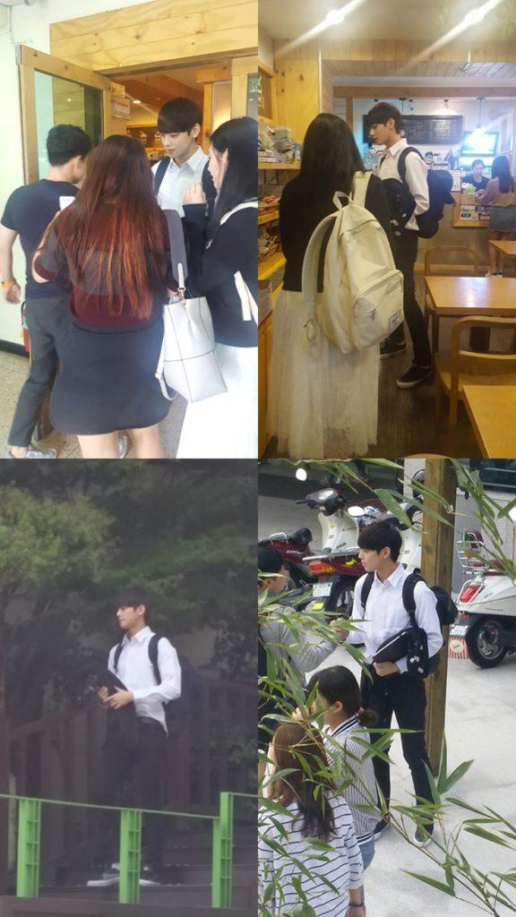 Fan Girls Go Crazy Over ASTRO Cha EunWoo's Campus Pictures