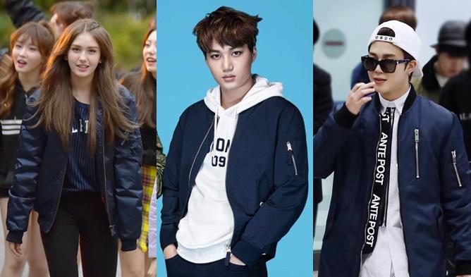 kpop fashion, kpop fashion trend, kpop trend fall 2016, kpop trend 2016, kpop outfit, kpop bomber jacket, kpop idol bomber jacket, korean bomber jacket