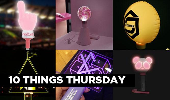kpop rookie idol fandom light stick 10 things main