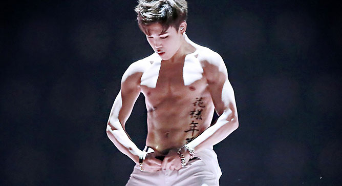 kpop idols bare six pack abs bts jimin