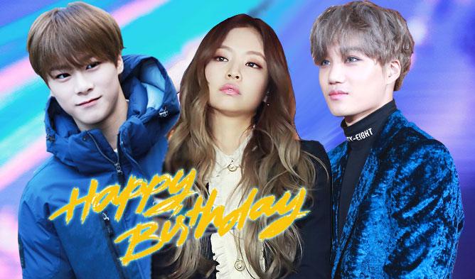 kpop birthday, kpop january birthday, january birthday idols,