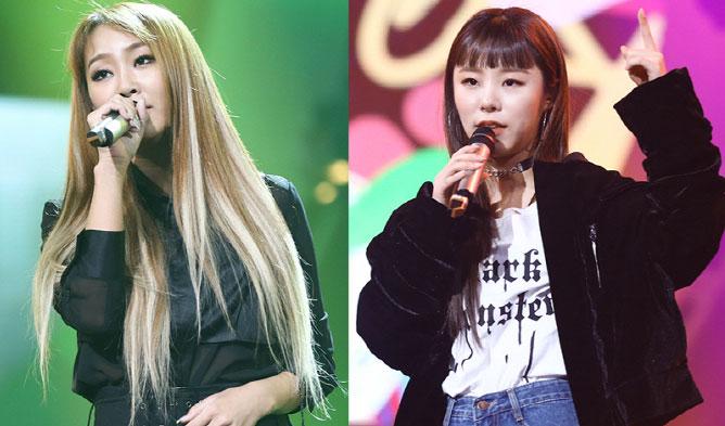 sistar, hyolyn, mamamoo, wheein, duet song festival, mbc, sunbae, hoobae