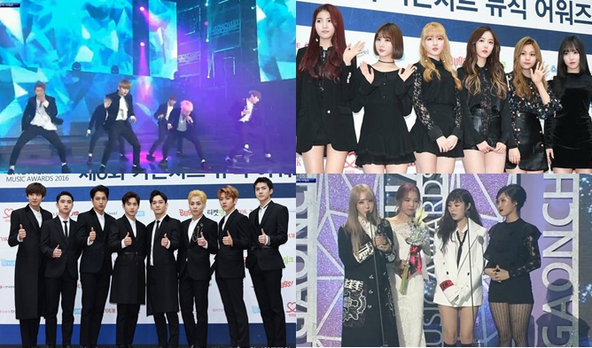 6th Gaon Chart K Pop Music Awards 2016 Results Winners