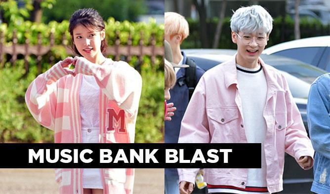 music bank, kpop music bank, music bank couple, kpop couple, kpop couple look,