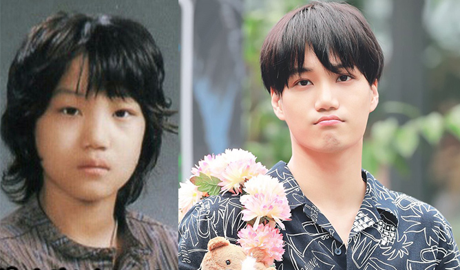 kai, young kai, kai past photos, kai transformation, kai childhood, exo kai, exo,