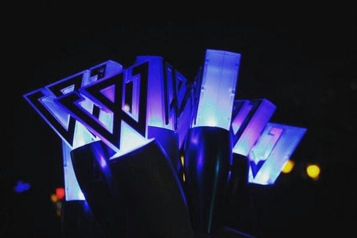 kpop idol group lightstick cheer stick list shine glow the longest