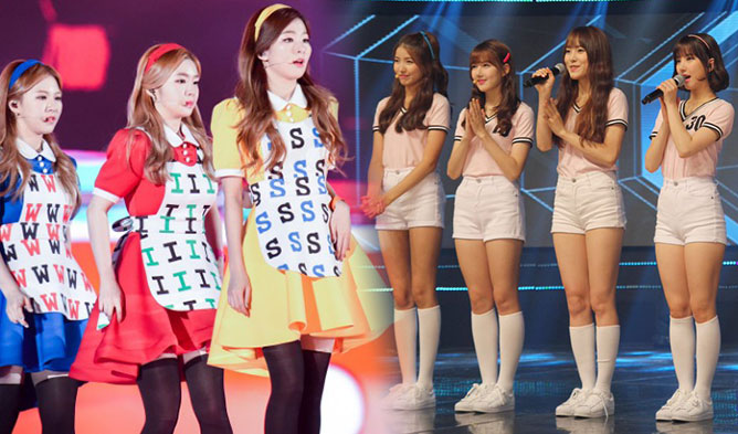 GFriend, Red Velvet, WJSN, Rainbow, Park BoGeum, Irene, Idol Stage Outfit