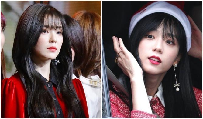 Female K-Pop Idols' Battle of the Bangs: Irene vs. JiSoo