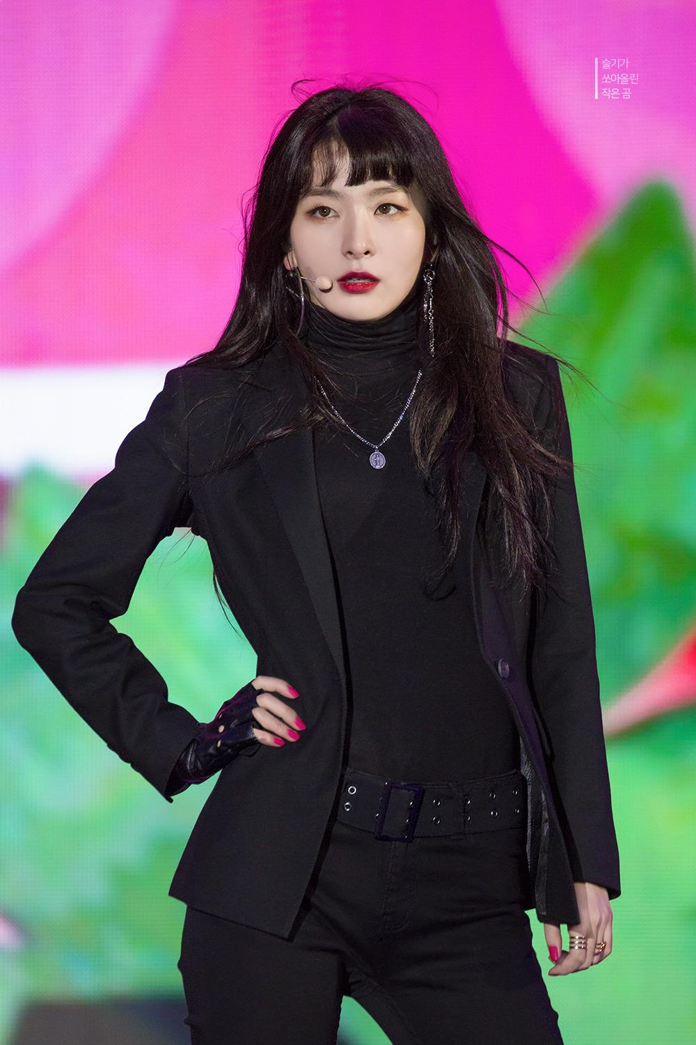 Female K-Pop Idols Wearing All Black Outfits