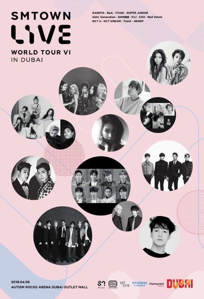 SMTOWN LIVE World Tour VI In Dubai 2018: Ticket Details