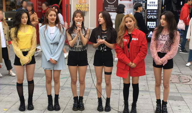 idle, idle cube, g idle, idle performance, idle busking, idle members