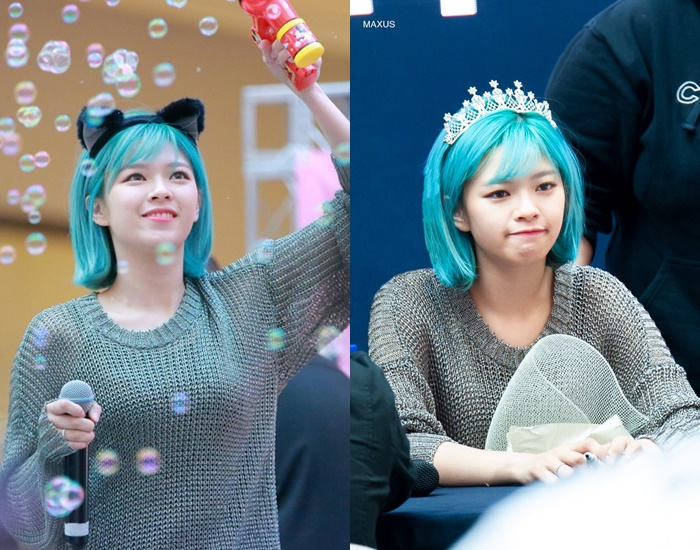 TWICE JeongYeon's Hairstyle Changes To Blue