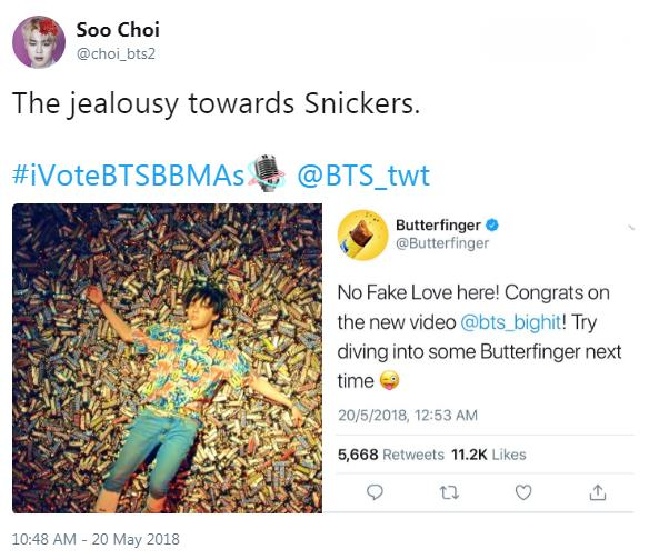 Snickers and Butterfingers Fight Over BTS