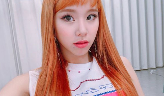 ChaeYoung hairstyle 2018, TWICE profile, ChaeYoung twice, ChaeYoung orange hair, ChaeYoung 2018