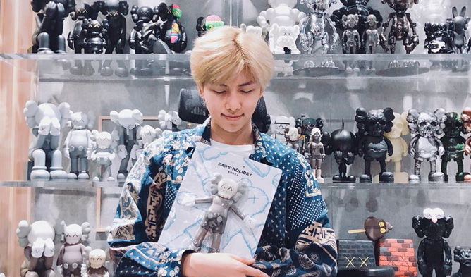 bts rm, bts, rm, bts profile, bts members, rm kaws, kaws holiday, kaws in seoul, kaws project