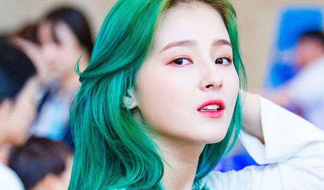 momoland profile, momoland nancy, nancy hair, nancy green hairstlye