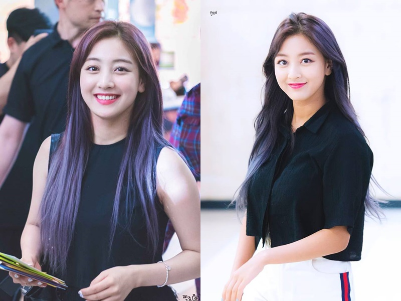 twice profile, twice jihyo, jihyo purple hair