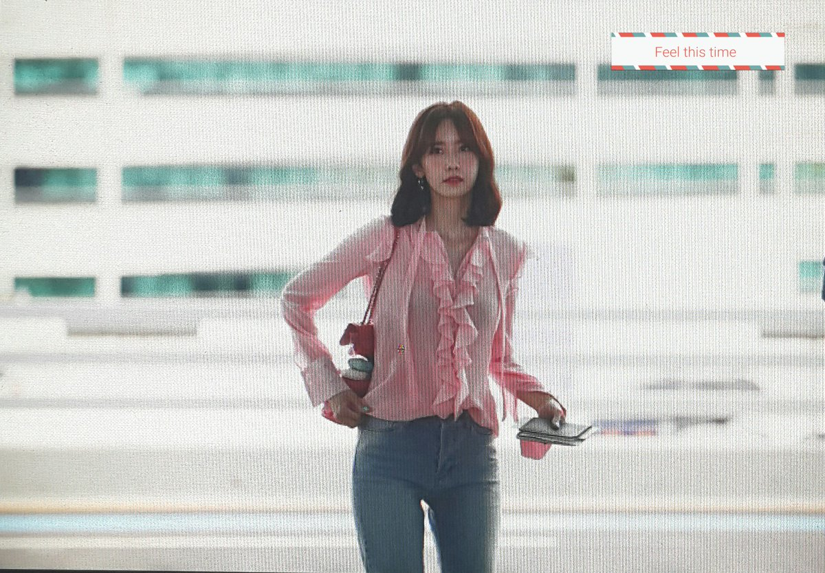 Girls' Generation YoonA's Lovely Airport Fashion