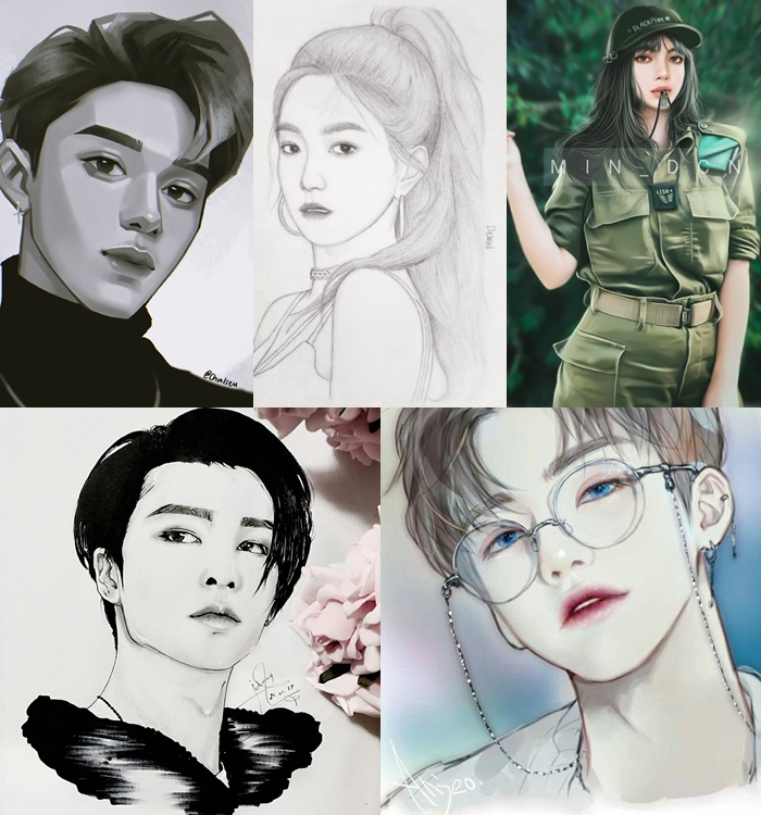 kpop drawing 1