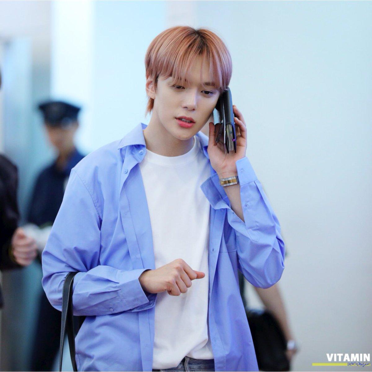 MONSTA X's MinHyuk Casual Boyfriend Fashion At The Airport